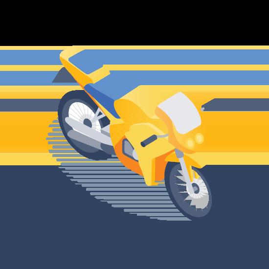 large motorbike icon